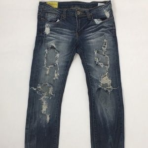 Machine Destroyed / Busted Skinny Jeans * 9/30